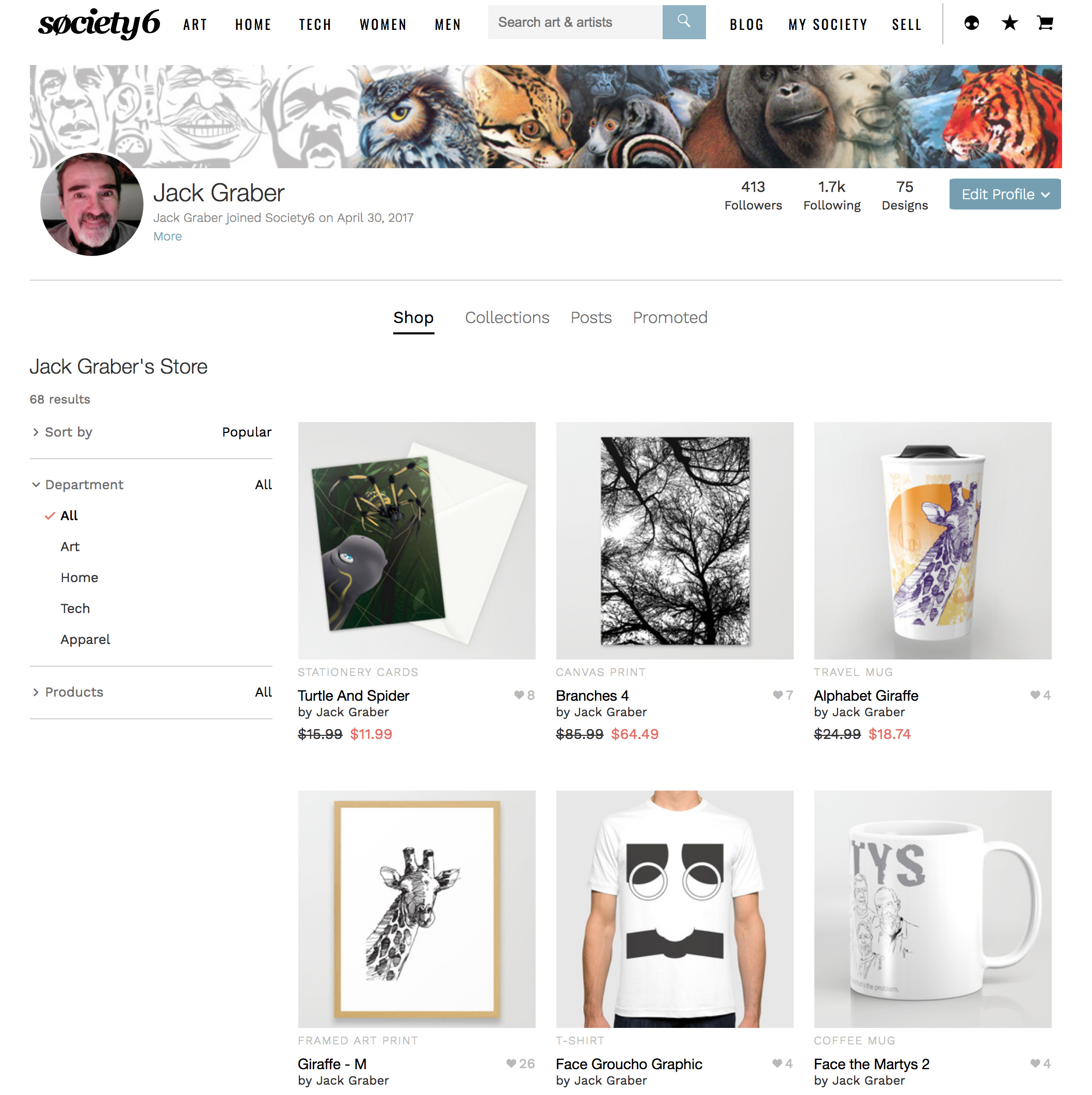 Society6 Graber Page